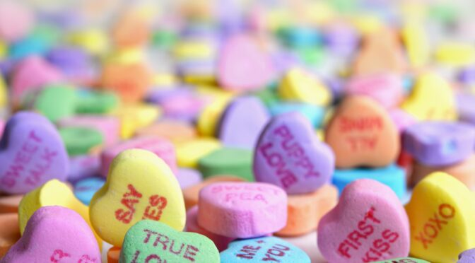 Valentines Day Heart Candies